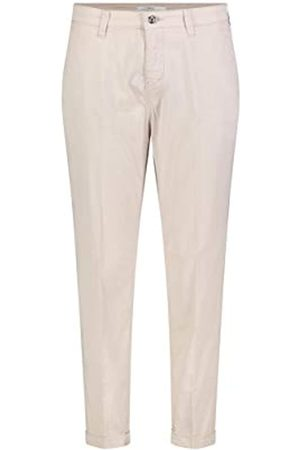 MAC Jeans Women's Chino Turn up Straight Jeans