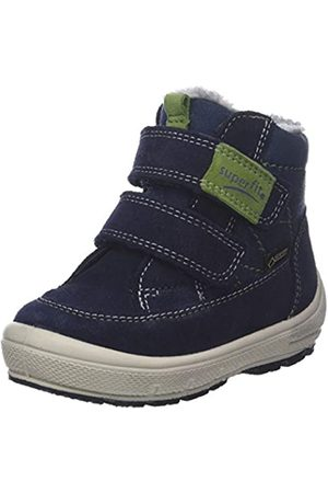 Superfit Boys' Groovy Snow Boots, (Blau/grün 80 80)