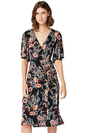 TRUTH & FABLE Amazon Brand - Women's Midi Jersey A-Line Dress, 18