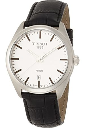 Tissot Mens Analogue Quartz Watch with Leather Strap T1014101603100