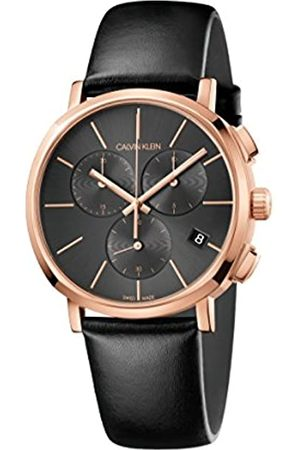 Calvin Klein Mens Chronograph Quartz Watch with Leather Strap K8Q376C3