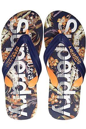 Superdry Men's Scuba AOP Flip Flop, (Indo Leaf 0vg)