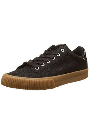victoria Women's Deportivo Lurex Low-Top Sneakers, (Negro 10)