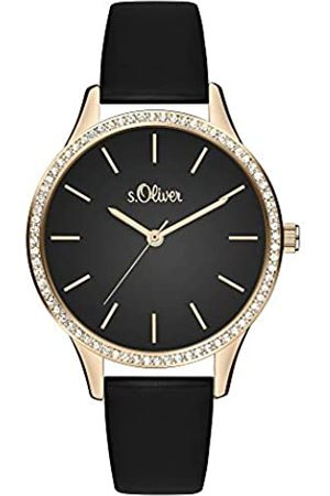 s.Oliver Womens Analogue Quartz Watch with Leather Strap SO-3831-LQ