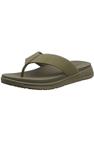 FitFlop Men's Sporty Toe-Thongs Flip Flops, (Timberwolf 326)