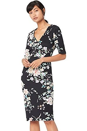 TRUTH & FABLE Amazon Brand - Women's Floral Bodycon Dress, 10