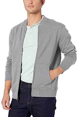 Goodthreads Men's Fleece Bomber Sweatshirt, (Heather )
