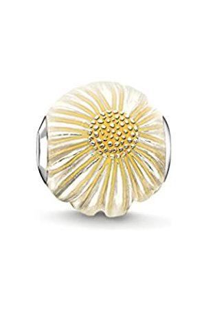 Thomas Sabo Women-Bead Daisy Karma Beads 925 Sterling Silver enamelled Silver K0200-007-4