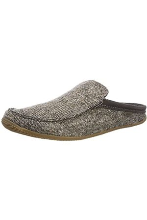 Living Kitzbühel Men's Moccasin Open Back Slippers, (Tweed 240)