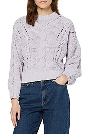 FIND Women's Jumper in Chunky Cable Knit with Long Sleeves and Turtleneck