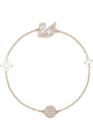 Swarovski Women's Multi-colored Rose-gold tone plated Dazzling Swan Bracelet 5472271