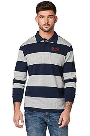 TOM TAILOR Men's Gestreiftes Langarm Polo Shirt