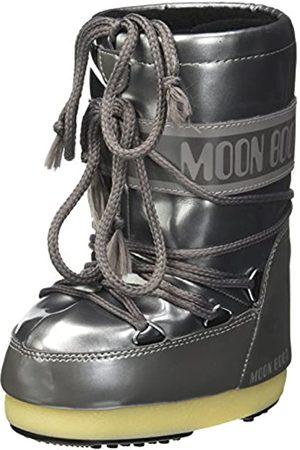 Moon-boot Unisex Kids Vinil Met Snow Boots, (Argento 004)