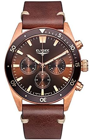 Elysee Bronze men´s watch with chronograph and dial sunray