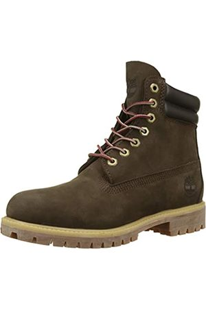 Timberland Men's 6 Inch Double Collar Waterproof Classic Boots, (Dark Nubuck D54)