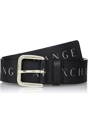 Armani Exchange Men's Allover Print Belt, (Nero- 00020)