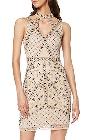 Frock and Frill Women's Henny Strap Top Sleeveless Embellished Mini Dress Party
