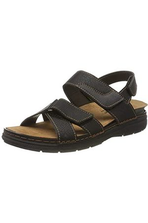 fischer Men's Mario Closed Toe Sandals, (Schwarz 222)