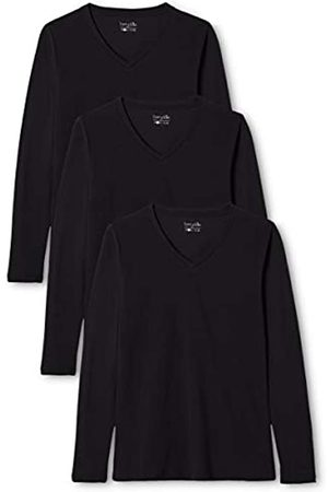 Berydale Women's Long Sleeve Shirt with V-Neck, 3-pack, in Various Colours