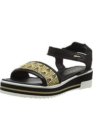 IGI&CO Women's DPY 31918 Platform Sandals, Nero (Nero 3191800)