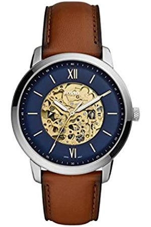 Fossil Mens Analogue Automatic Watch with Leather Strap ME3160
