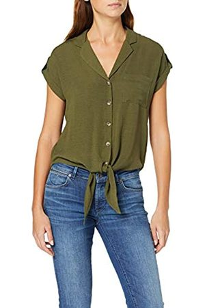 Dorothy Perkins Women's Khaki Tie FRNT Shirt
