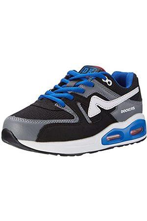 Dockers 6 UK9ld610-702120, Unisex Kids' Low-Top Sneakers, (Schwarz/grau 120)