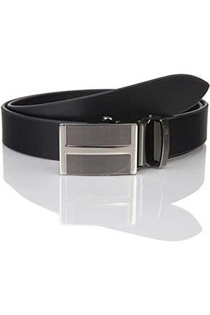 Lindenmann Mens leather belt/Mens belt, business belt, leather belt curved with autolock buckles, Größe/Size:105