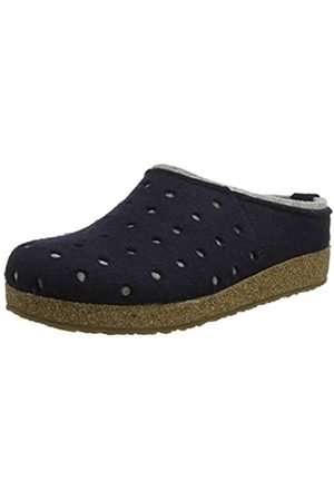 HAFLINGER Women's Grizzly Holly Open Back Slippers, (Mittelblau 70)
