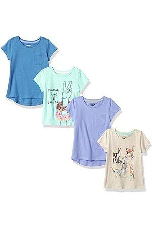 Spotted Zebra Amazon Brand - 4-pack Short-sleeve T-shirts Llama Drama, Medium (8) US