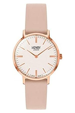 Henry London Unisex Adult Analogue Classic Quartz Watch with Leather Strap HL34-S-0404