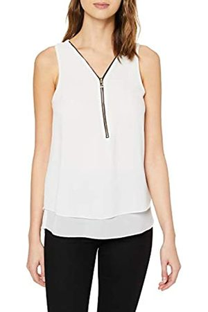 Mela Women's Zip Detail Sleevless Top T-Shirt