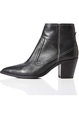 FIND Amazon Brand - Stitch Leather High Western Ankle Boots, )
