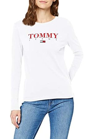 Tommy Hilfiger Women's TJW Essential Logo Longsleeve Long Sleeve Top
