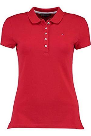 Tommy Hilfiger Women's New Chiara Str Pq Polo Ss Polo Short Sleeve Polo Shirt