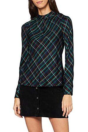 Dorothy Perkins Women's Check Woven Long Sleeve Top Blouse