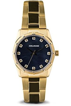 Zadig & Voltaire Unisex Analogue Classic Quartz Watch with Stainless Steel Strap ZVF221