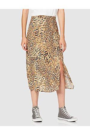 warehouse Women's Mixed Animal Button Side Skirt