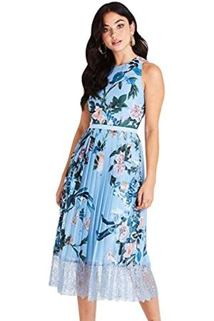 Little Mistress Women's Rori Floral Midi Dress with Lace Party
