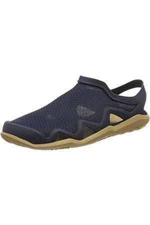 Crocs Men's Swiftwater Mesh Wave Closed Toe Sandals, (Navy/Tan 4kl)