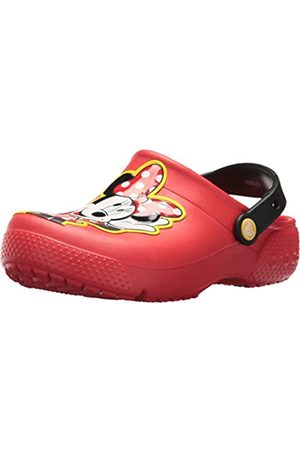 Crocs Girls' Fun Lab Minnie Clog Kids, (Flame)