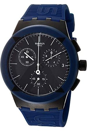 Swatch Mens Chronograph Quartz Watch with Silicone Strap SUSB418