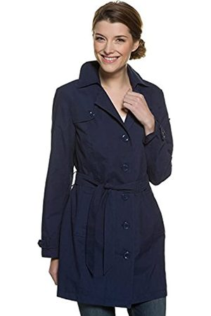 GINA LAURA Women's Jacke Trenchcoat, Bindegürtel, Schlitz Coat