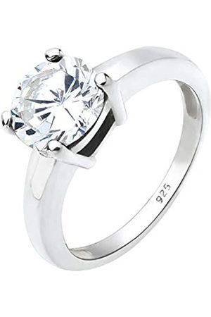 Elli Women's 925 Sterling Xilion Cut Cubic Zircon White Ring