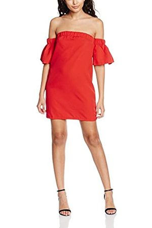 Boohoo Women's Govanna Off Shoulder Flute Strapless 3/4 Sleeve Dress