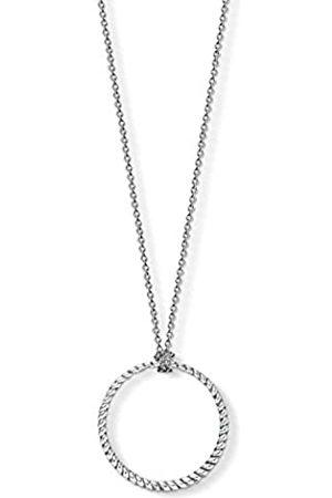 Thomas Sabo Women Men-Charm-Necklace circle Charm Club 925 Sterling X0251-637-21-L90