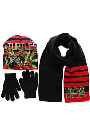 Nickelodeon Boy's Ninja Turtles Fight Hat/Gloves/Scarf