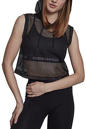 Urban Classics Women's Ladies Mesh Cropped Hoody Hooded Sweatshirt