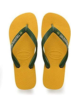 Havaianas Kid's Brazilianasil Logo Flip Flops, (Banana ),12 UK