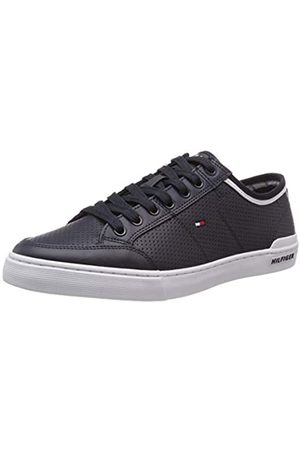 Tommy Hilfiger Core Corporate Leather Sneaker, Men's Low-Top Sneakers Low-Top Sneakers, (Midnight 403)